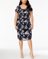 Planet Gold Trendy Plus Size Printed Sheath Dress