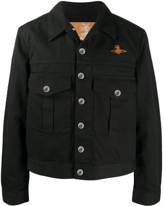 Vivienne Westwood Orb-embroidered herringbone jacket