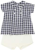La Stupenderia Gingham Shirt & Twill Shorts