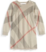 Burberry 'Pearl' Cotton & Cashmere Sweater Dress (Baby Girls)
