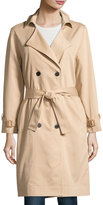 Lucca Couture Ali Twill Trench Coat, Tan