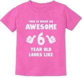 TeeStars This Is What an Awesome 6 Year Old Looks Like Toddler/Infant Kids T-Shirt