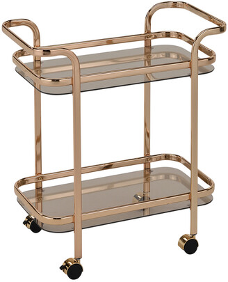 Worldwide Homefurnishings Worldwide Home Furnishings Zedd 2-Tier Bar Cart