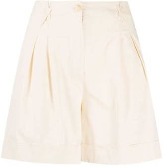 Semi-Couture Pleat Detail Shorts