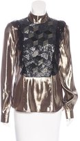 Preen Metallic Embellished Blouse