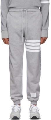 Thom Browne Grey 4-Bar Half and Half Lounge Pants