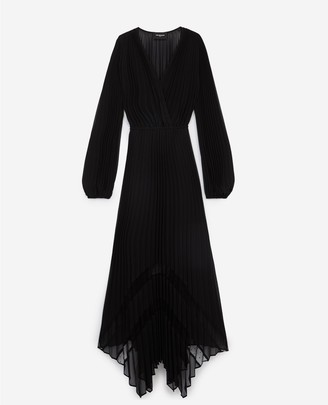 The Kooples Black long flowing dress with lace detailing