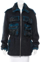 Diane von Furstenberg Fur-Trimmed Fitted Jacket