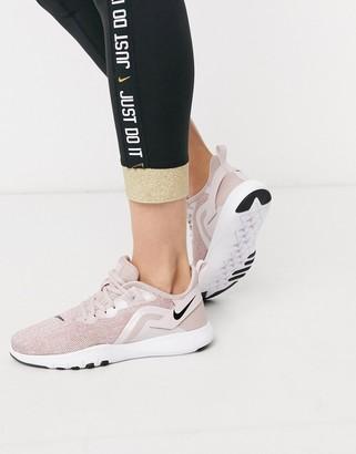 Nike Training Flex sneakers in rose gold