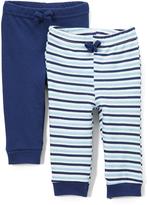 Sweet & Soft Navy Stripe Jogger Set - Infant