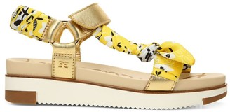 Sam Edelman Ashie Fabric & Metallic Leather Sport Sandals