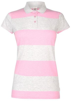 Lee Cooper Block Stripe Polo Shirt Ladies