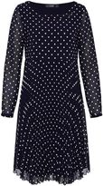 Hallhuber Pleated polka dot dress
