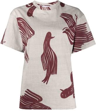 Christian Wijnants bird print T-shirt