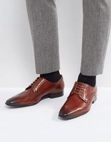 Paul Smith Roth Derby Lace Up Shoes in Tan