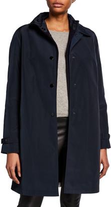 Jane Post Double Layer Snap-Front Rain Coat