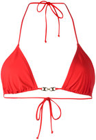 Tory Burch gold-tone detail bikini top - women - Nylon/Spandex/Elastane - S