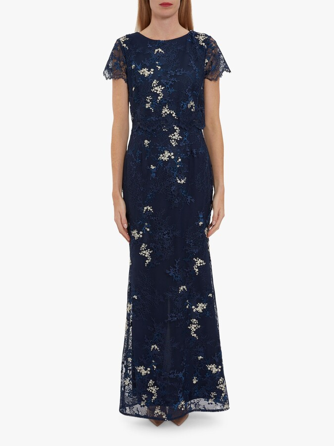 Thumbnail for your product : Gina Bacconi Drew Embroidered Maxi Dress