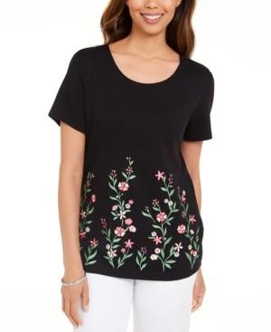 Karen Scott Garden Treasure Floral-Print Top, Created for Macy's