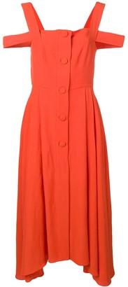 Isa Arfen Cold-Shoulder Flared Dress