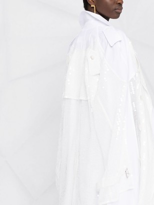 Junya Watanabe Sequin-Embellished Cape Coat