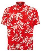 Saint Laurent Pineapple Print Bowling Shirt