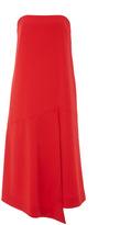 Tibi Structured Crepe Strapless Drape Dress
