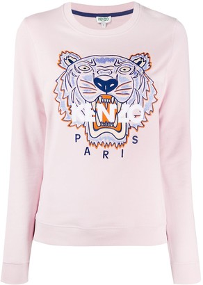 Kenzo Tiger Logo-Embroidered Sweatshirt
