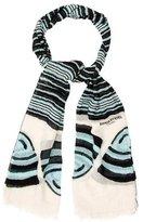 Sonia Rykiel Striped Print Scarf