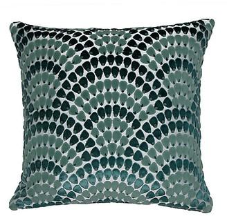 The Piper Collection Landis 22x22 Pillow - Bermuda Blue/Teal Velvet