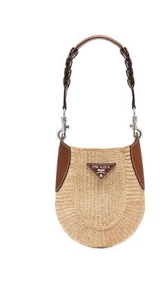 Prada City logo-plaque shoulder bag