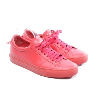 Givenchy \N Red Leather Trainers