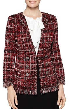 Misook Plaid Tweed Knit Jacket