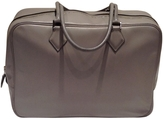 Hermes Grey Leather Handbag
