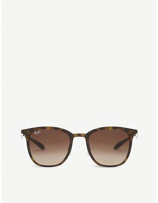 Ray-Ban Women's Matte Havana Tortoiseshell Design Brown Rb4278 Sunglasses