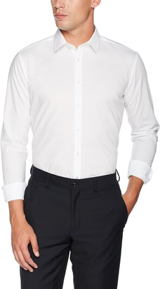 Seidensticker Men's Slim Fit Business Shirt X-slim Fit - Non-iron Very Slim Shirt with Kent Collar - Long Sleeve