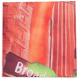 Eton New York Street Sign Silk Pocket Square