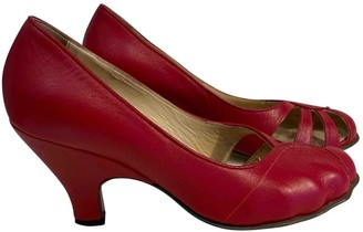 Vivienne Westwood Red Leather Heels