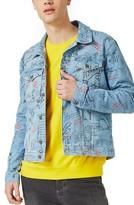 Topman Men's Doodle Denim Jacket