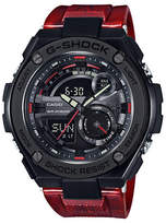 Casio Ana-Digi G-Shock G-Steel with Red Resin Band Watch