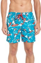 Vilebrequin Men's Snowboard Bunnies Print Swim Trunks