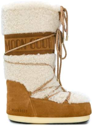 Moon Boot shearling moon boots
