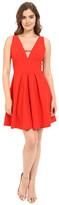 Adelyn Rae V Front Fit & Flare Dress