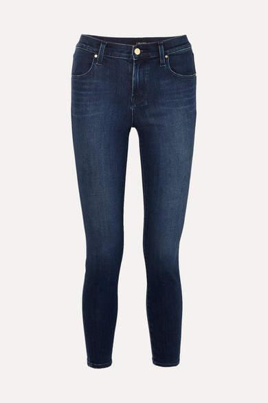 J Brand Alana Cropped High-rise Skinny Jeans - Mid denim