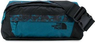 The North Face abstract leopard print belt bag