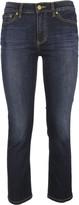 Tory Burch Sandy Cropped Straight Leg Jeans