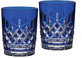 Waterford Lismore Double Old Fashioned Glass Pair, Cobalt