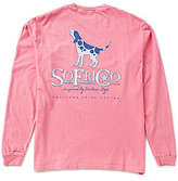 Southern Fried Cotton Men's Preppy Howler Graphic Long-Sleeve Pocket Tee