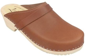 Lotta Clogs Lotta clogs - Lottas Clogs Low Heeled Tan On Natural Sole - 40