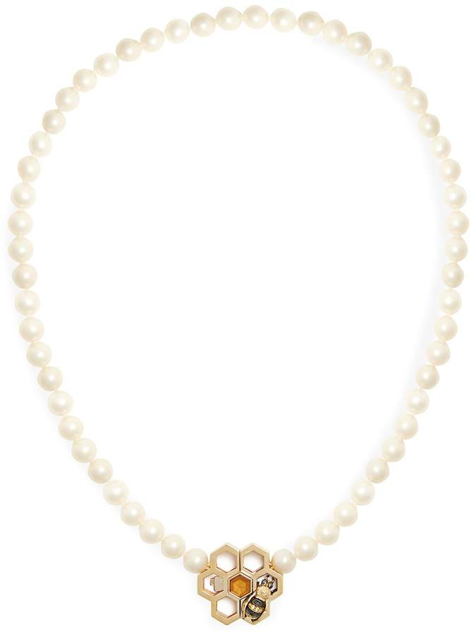 Delfina Delettrez Yellow-gold pearl necklace